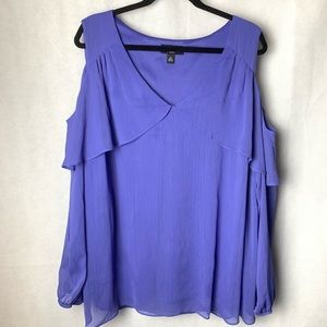 AGB cold shoulder top Fully lined. 3X